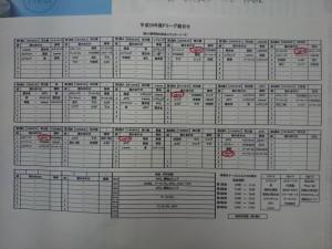 福知山サッカー社会人リーグの試合日程表