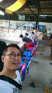 タイで海老釣り