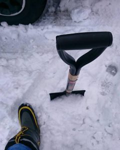 雪の日長靴