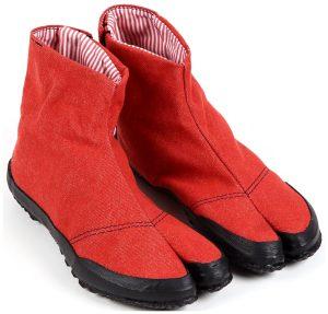 赤い地下足袋