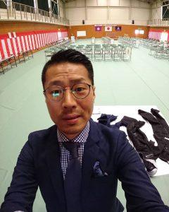 職業訓練校の体育館内の写真